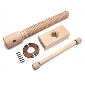 Wood Vise Screw - Premium Kit (Vintage Finish)