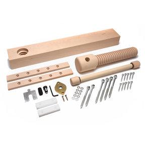 Wood Wagon Vise Screw - Premium Kit (Brushed Finish)