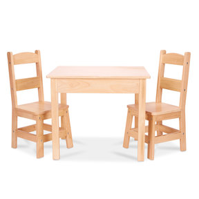 Wooden Table & Chairs, Natural