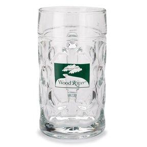 1-Liter Glass Beer Mug