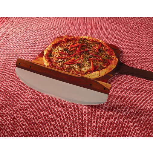 """View a Larger Image of 16"""" Rocking Pizza Cutter Kit - Stainless Steel"""