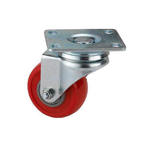 """2-1/2"""" Caster Non-Locking Swiveling with 4 Hole Mounting Plate 3-3/8"""" Tall"""