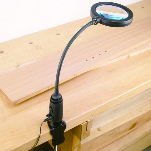 View a Larger Image of LED Shop Light with Magnifying Glass Head