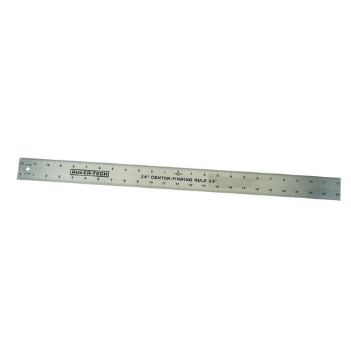 """View a Larger Image of Stainless Steel Center Finding Rule 24"""""""