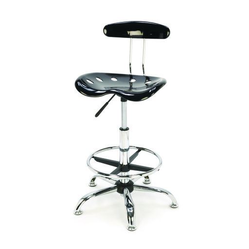 View a Larger Image of Adjustable Height Shop Stool