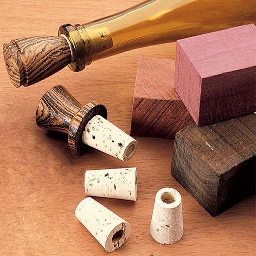 View a Larger Image of Woodturning Project Kit for Cork Bottle Stoppers 10-Piece
