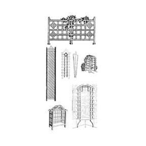 Woodworking Project Paper Plan to Build 19 Garden Trellis