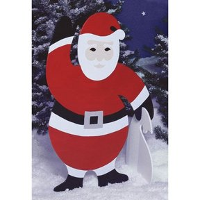 Woodworking Project Paper Plan to Build 4 ft. Santa
