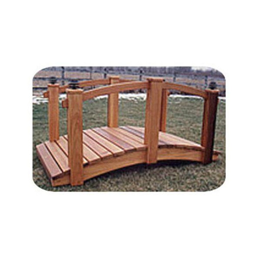 View a Larger Image of Woodworking Project Paper Plan to Build 8' Arched Lawn Bridge