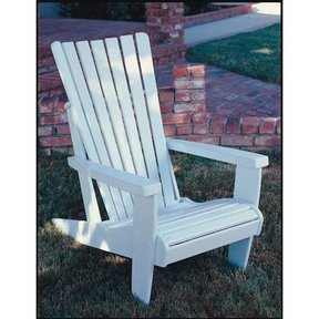 Woodworking Project Paper Plan to Build Adirondack Chair, Plan No. 55