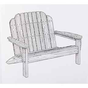 Woodworking Project Paper Plan to Build Adirondack Loveseat