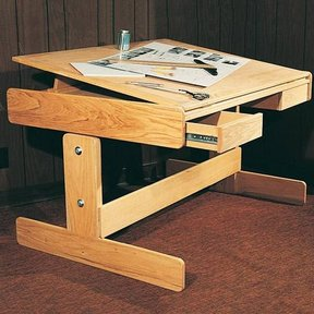 Woodworking Project Paper Plan to Build Adjustable Work Table, Plan No. 787