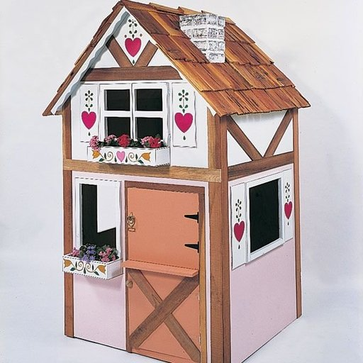 View a Larger Image of Woodworking Project Paper Plan to Build Alpine Playhouse, Plan No. 658