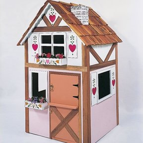 Woodworking Project Paper Plan to Build Alpine Playhouse, Plan No. 658