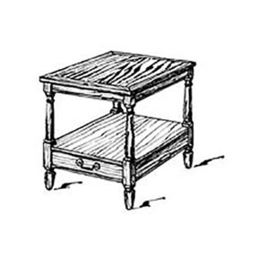 Woodworking Project Paper Plan to Build American End Table