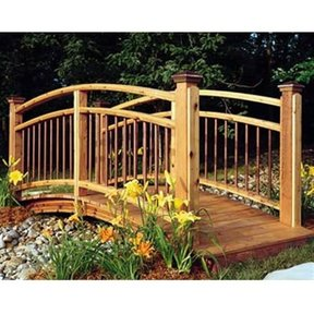 Woodworking Project Paper Plan to Build Arched Foot Bridge