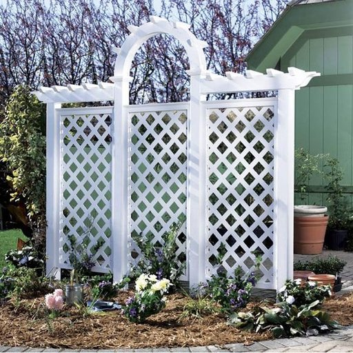 View a Larger Image of Woodworking Project Paper Plan to Build Arched Trellis