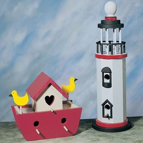 Woodworking Project Paper Plan to Build Ark & Lighthouse Birdhouses