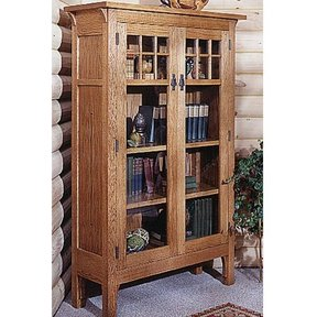 Woodworking Project Paper Plan to Build Arts and Crafts Bookcase Plan