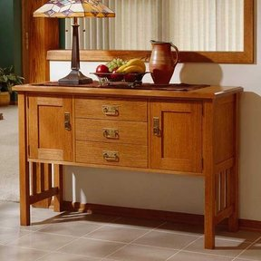 Woodworking Project Paper Plan to Build Arts and Crafts Buffet