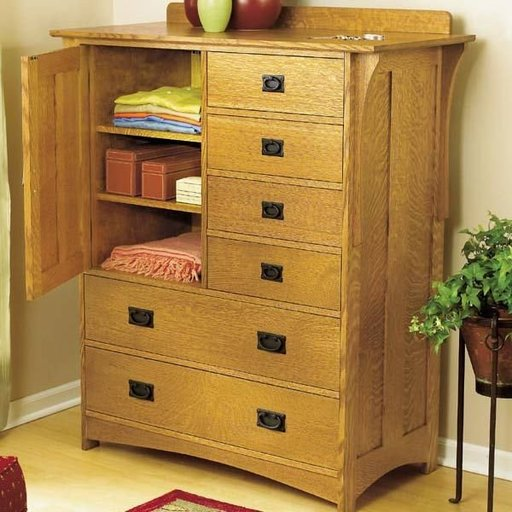 View a Larger Image of Woodworking Project Paper Plan to Build Arts and Crafts Dresser