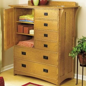 Woodworking Project Paper Plan to Build Arts and Crafts Dresser