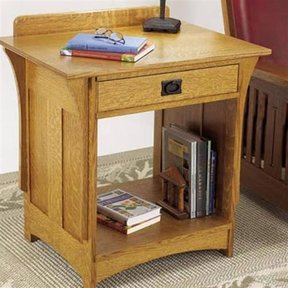 Woodworking Project Paper Plan to Build Arts and Crafts Nightstand