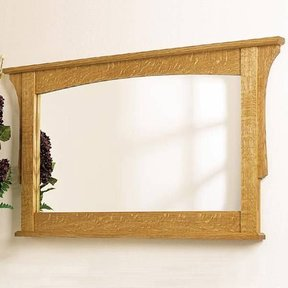 Woodworking Project Paper Plan to Build Arts and Crafts Wall Mirror