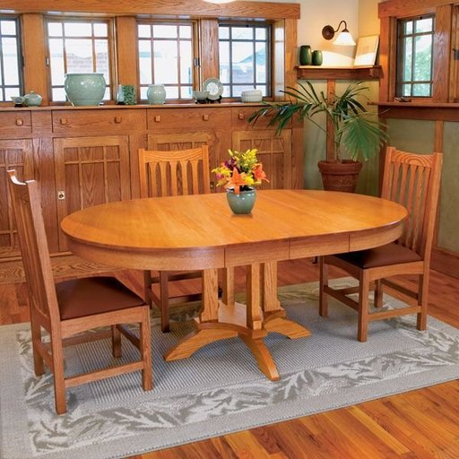 View a Larger Image of Woodworking Project Paper Plan to Build Arts & Craft Dining Table