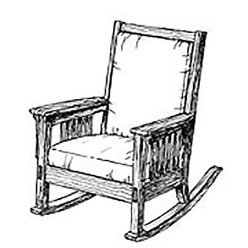 View a Larger Image of Woodworking Project Paper Plan to Build Authentic Mission Rocking Chair