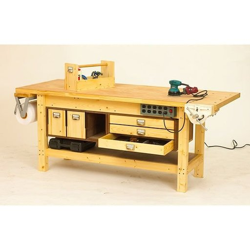 View a Larger Image of Woodworking Project Paper Plan to Build Basic Workbench and 6 Ways to Beef It Up