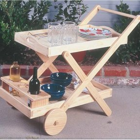 Woodworking Project Paper Plan to Build BBQ Cart, Plan No. 928