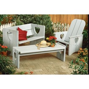Woodworking Project Paper Plan to Build Bench, Chair, and Table