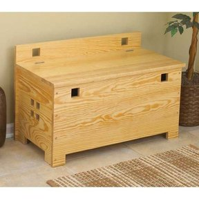 Woodworking Project Paper Plan to Build Bench with Storage