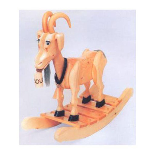 View a Larger Image of Woodworking Project Paper Plan to Build Bill E. Goat Rocker