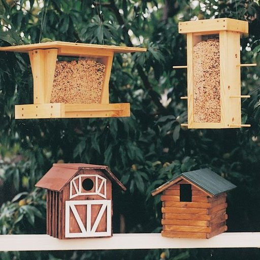 View a Larger Image of Woodworking Project Paper Plan to Build Bird Shelter & Feeder, Plan No. 684