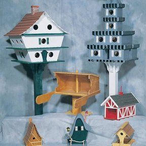Woodworking Project Paper Plan to Build Birdhouse Assortment, Plan No. C12