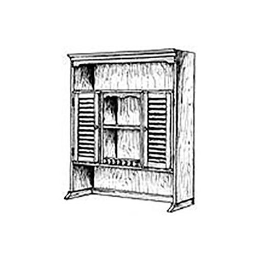 View a Larger Image of Woodworking Project Paper Plan to Build Bookshelf Hutch Plan II