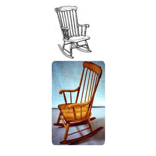 View a Larger Image of Woodworking Project Paper Plan to Build Boston Rocking Chair