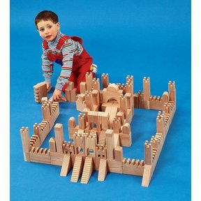 Woodworking Project Paper Plan to Build Building Block Castle