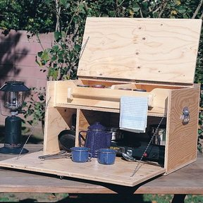 Woodworking Project Paper Plan to Build Camp Kitchen, Plan No. 213