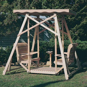 Woodworking Project Paper Plan to Build Canopy Glider Swing