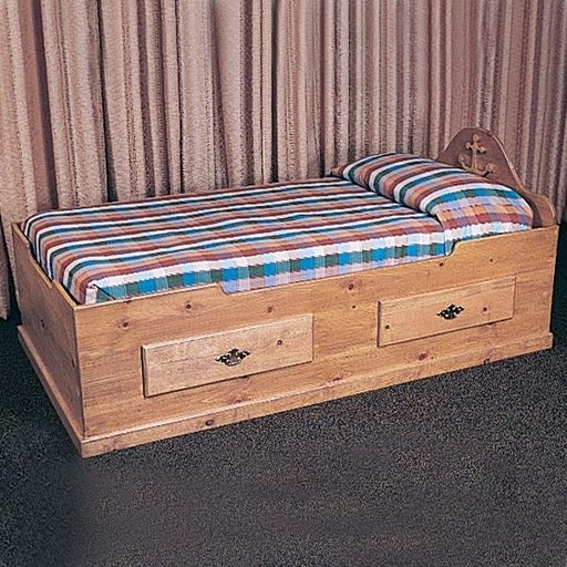 View a Larger Image of Woodworking Project Paper Plan to Build Captain's Bed, Plan No. 747