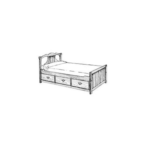 View a Larger Image of Woodworking Project Paper Plan to Build Captain's Bed