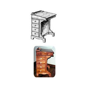 Woodworking Project Paper Plan to Build Captain's Writing Desk