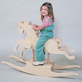 Woodworking Project Paper Plan to Build Carousel Rocking Horse, Plan No. 657