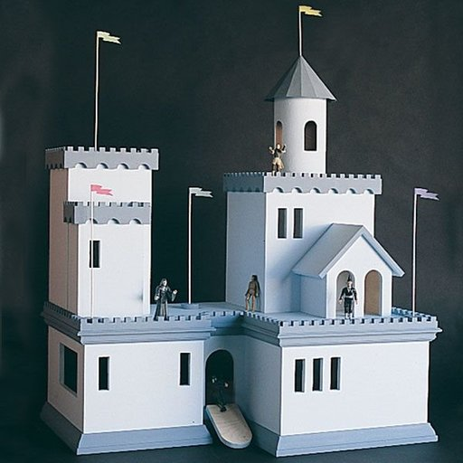View a Larger Image of Woodworking Project Paper Plan to Build Castle Doll House, Plan No. 794