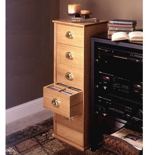 View a Larger Image of Woodworking Project Paper Plan to Build CD Storage Cabinet