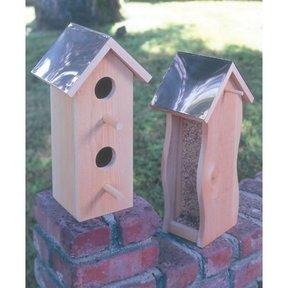 Woodworking Project Paper Plan to Build Cedar Bird House & Feeder, Plan No. 931