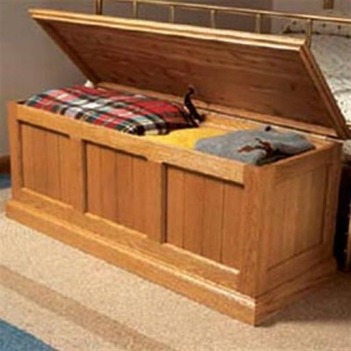 View a Larger Image of Woodworking Project Paper Plan to Build Cedar-Lined Oak Chest